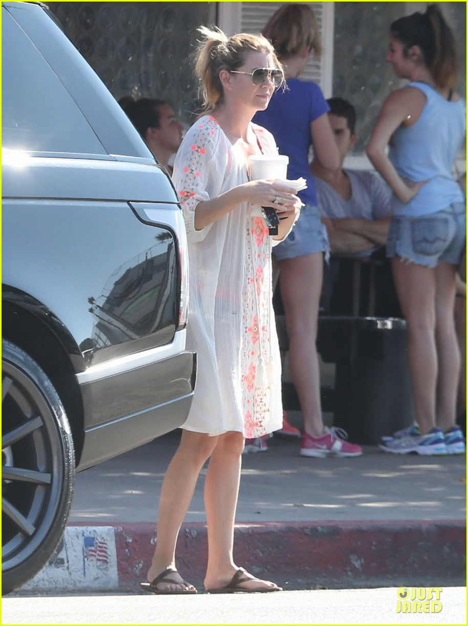 ellen pompeo sports sheer dress for ice cream stop 062928911