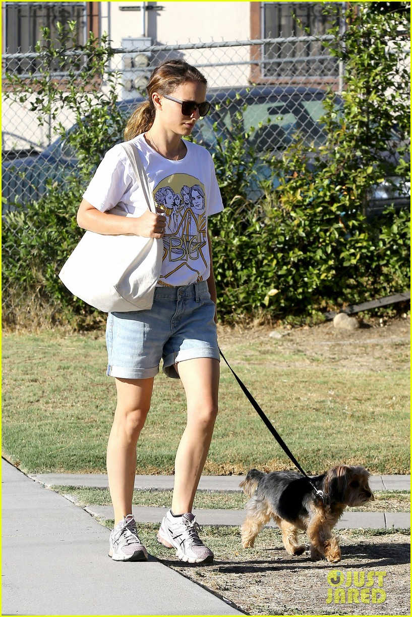 natalie portman wears big star band tee to walk whiz 052932400