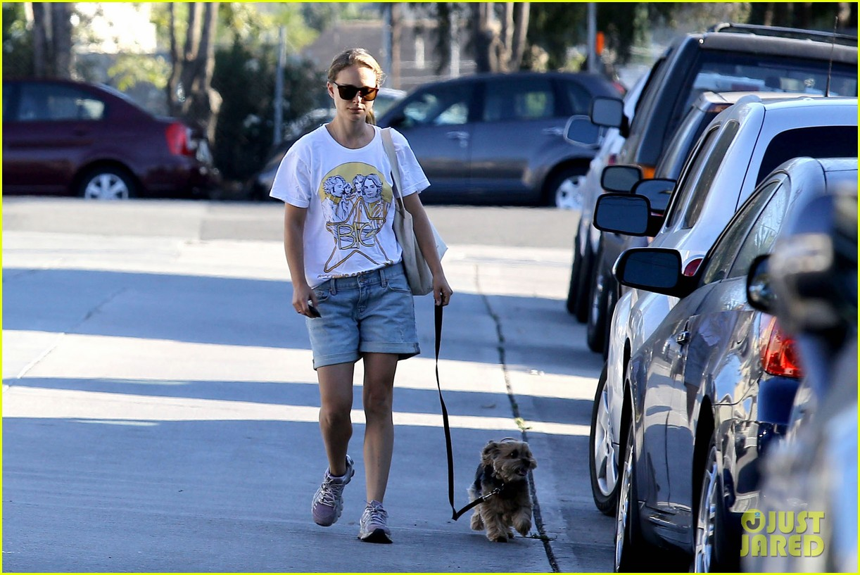 natalie portman wears big star band tee to walk whiz 132932408
