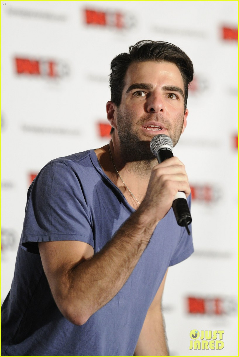 zachary quinto julie benz fan expo canada 01