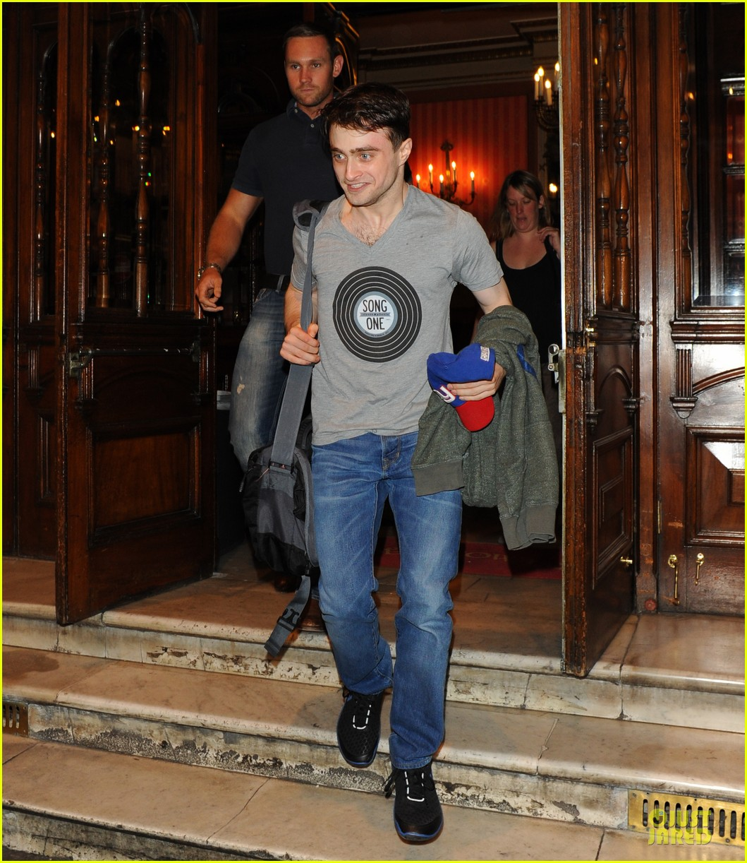 Full Sized Photo of daniel radcliffe supports song one at ... Daniel Radcliffe