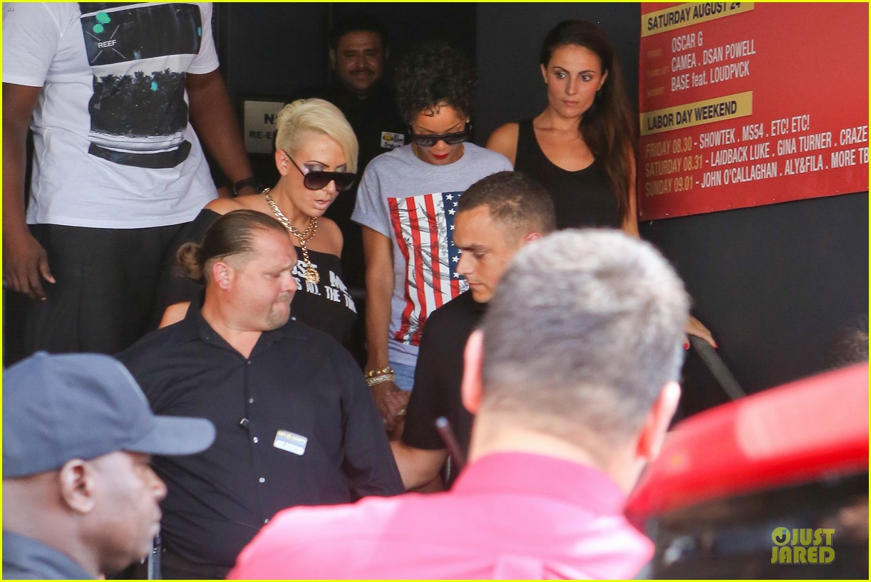 rihanna sports american flag for miami outing 082928344