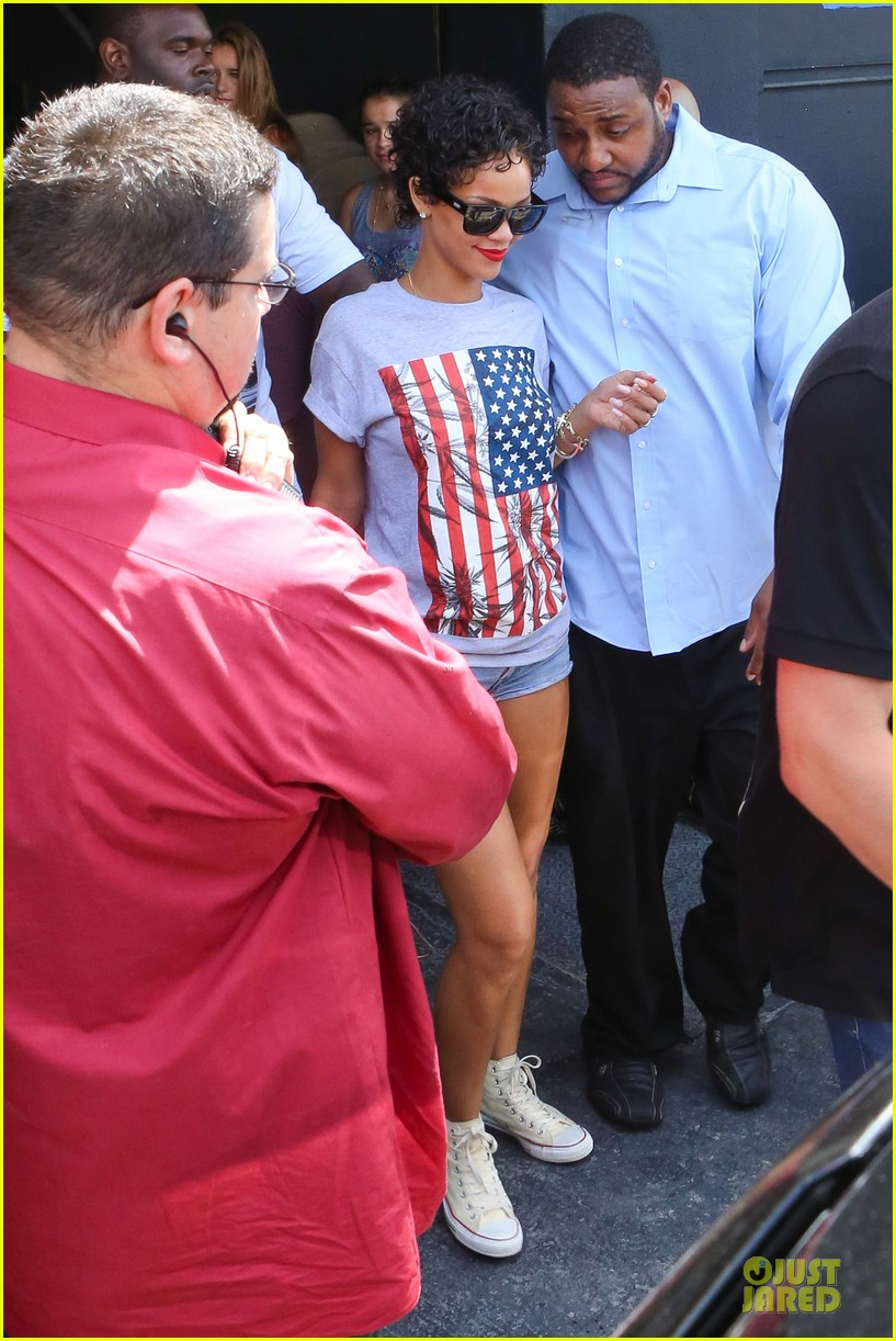 rihanna sports american flag for miami outing 112928347