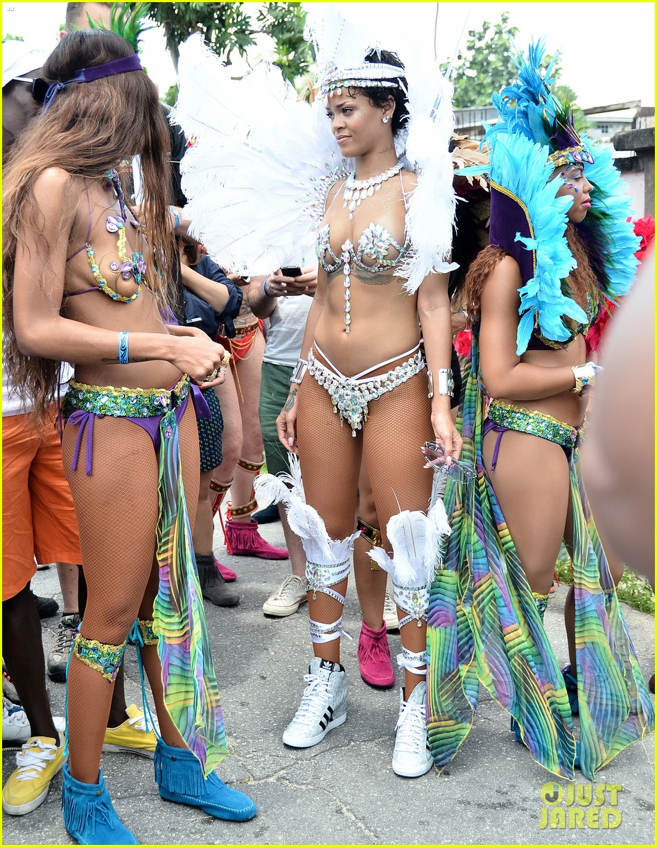 rihanna wears next to nothing for barbados carnival parade 012924112