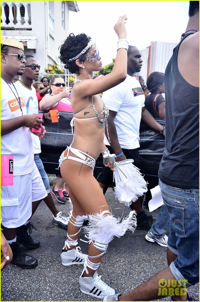 rihanna wears next to nothing for barbados carnival parade 032924114