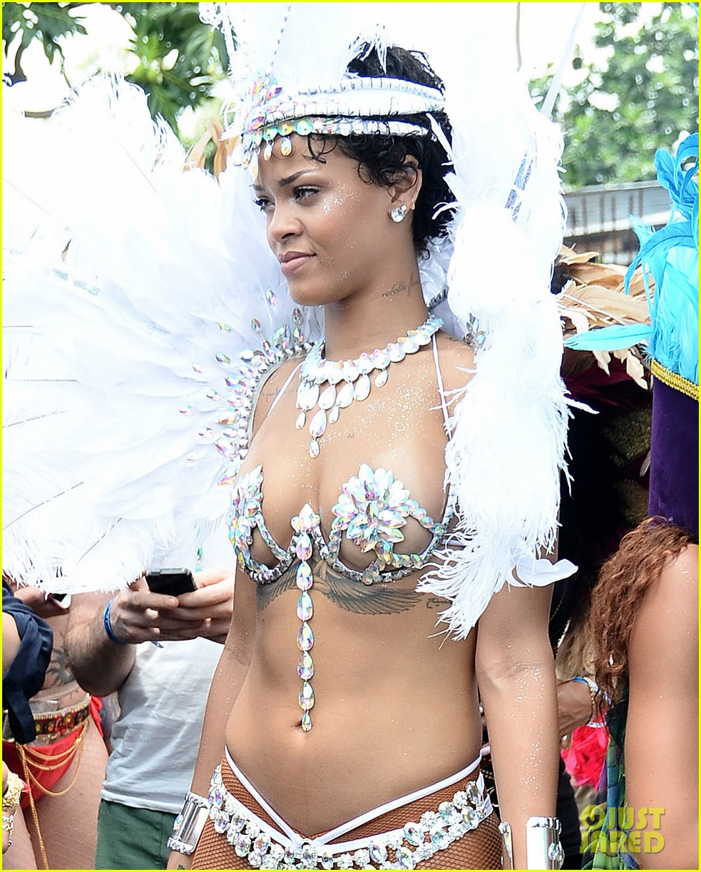 rihanna wears next to nothing for barbados carnival parade 042924115