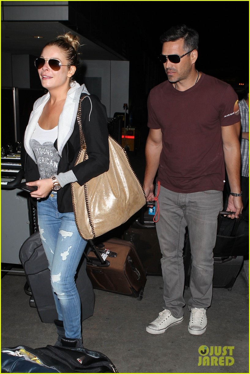 leann rimes birthday lax arrivial with eddie cibrian 082939329