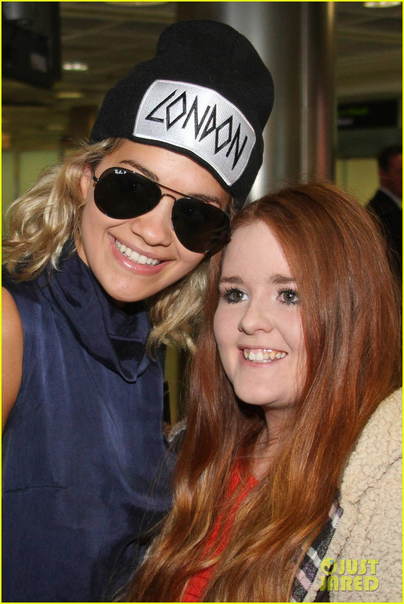 rita ora fan friendly dublin arrival before lytham proms festival 032923558