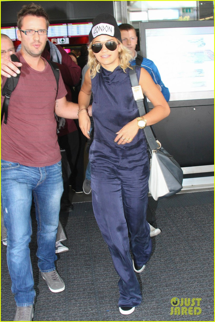 rita ora fan friendly dublin arrival before lytham proms festival 072923562