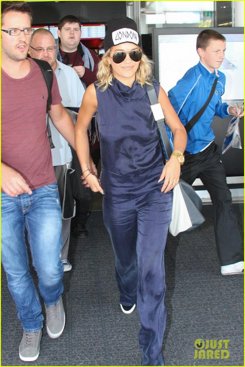 rita ora fan friendly dublin arrival before lytham proms festival 092923564