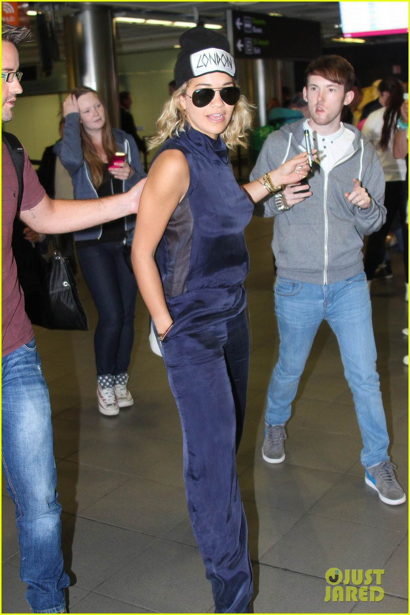 rita ora fan friendly dublin arrival before lytham proms festival 112923566
