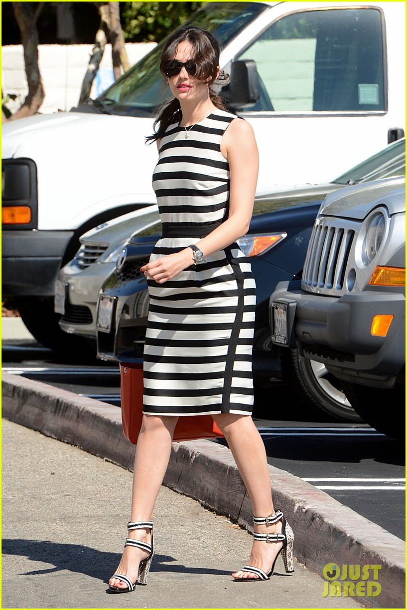 emmy rossum shows her stripes in brentwood 012926628