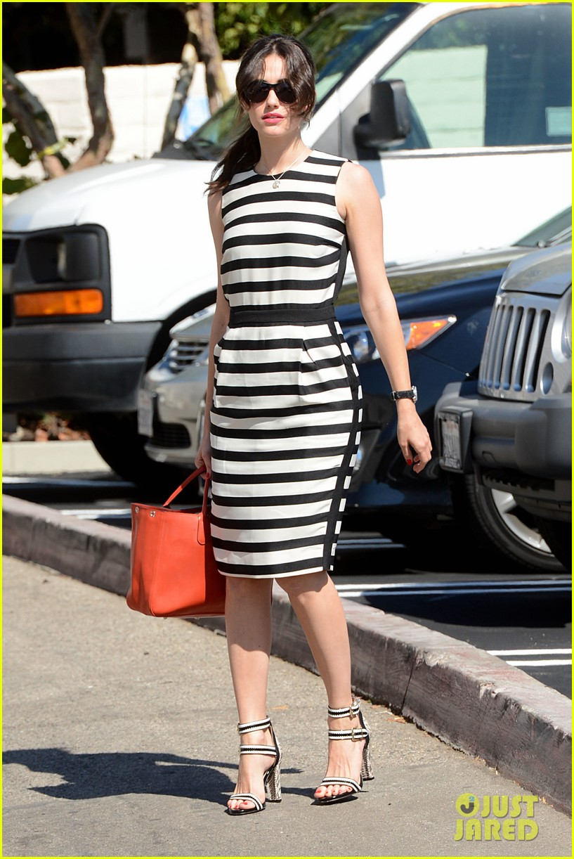 emmy rossum shows her stripes in brentwood 062926633