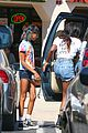 willow smith matches tye dyed hair with tye dyed shirt 17