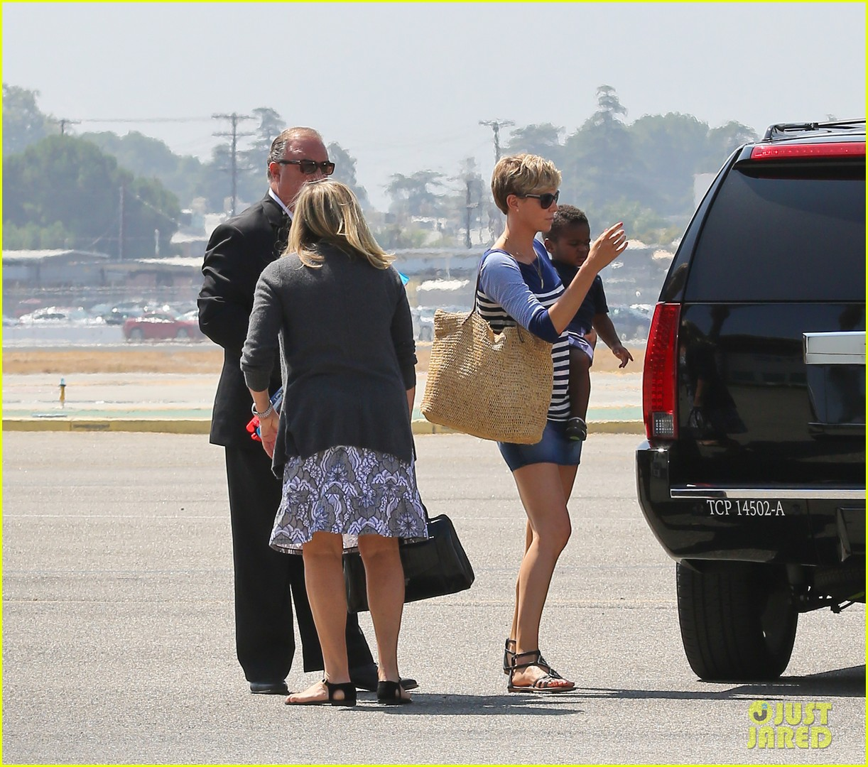 charlize theron jackson depart in los angeles together 082924868