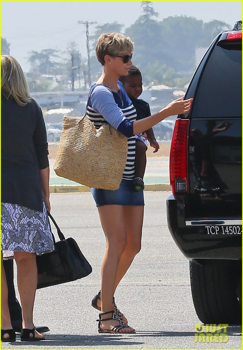 charlize theron jackson depart in los angeles together 092924869