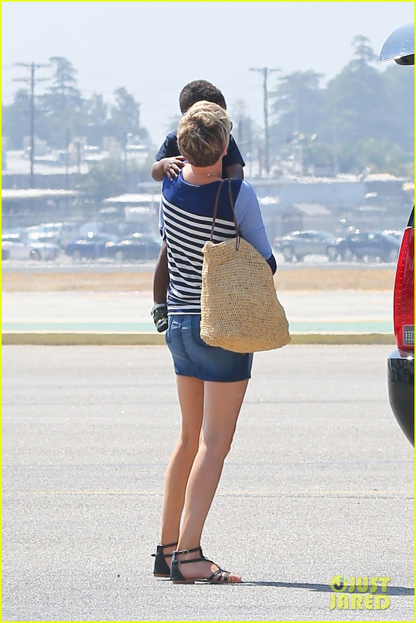 charlize theron jackson depart in los angeles together 152924875