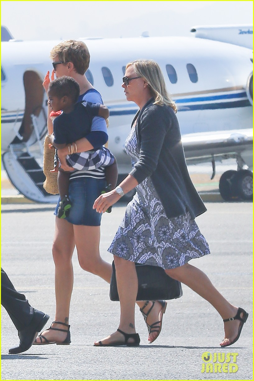 charlize theron jackson depart in los angeles together 192924878