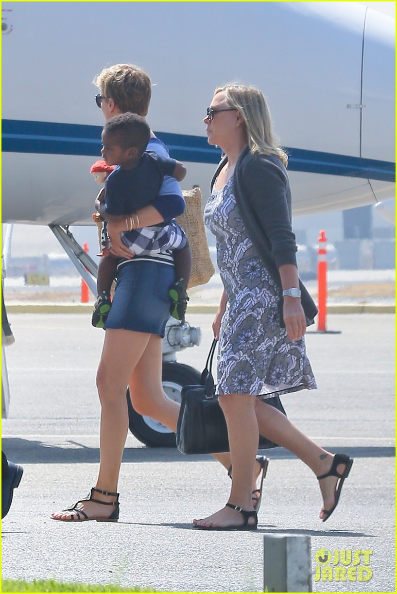 charlize theron jackson depart in los angeles together 202924879