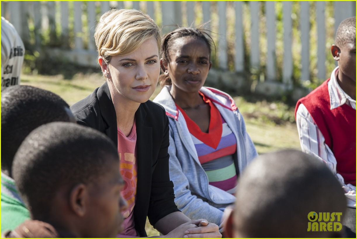 charlize theron visits youth ambassador project in south africa 062922288