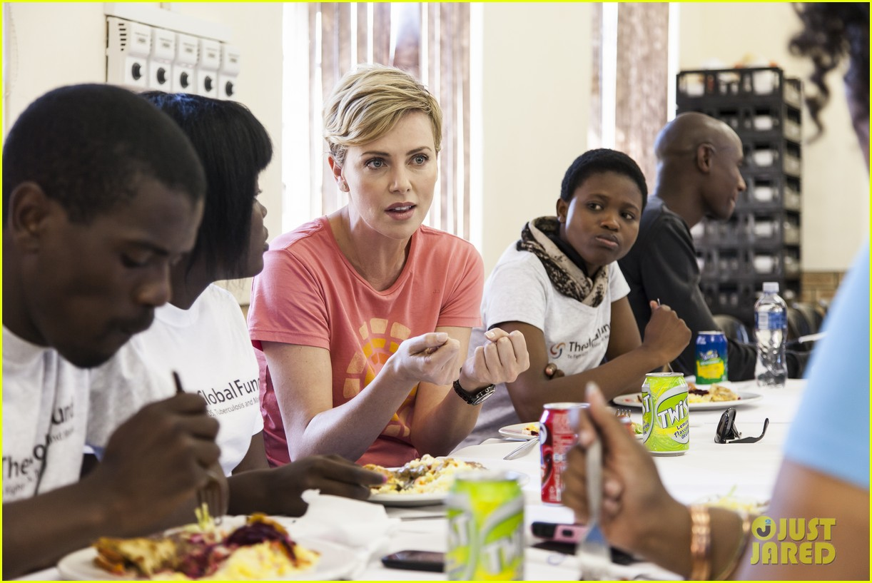 charlize theron visits youth ambassador project in south africa 072922289