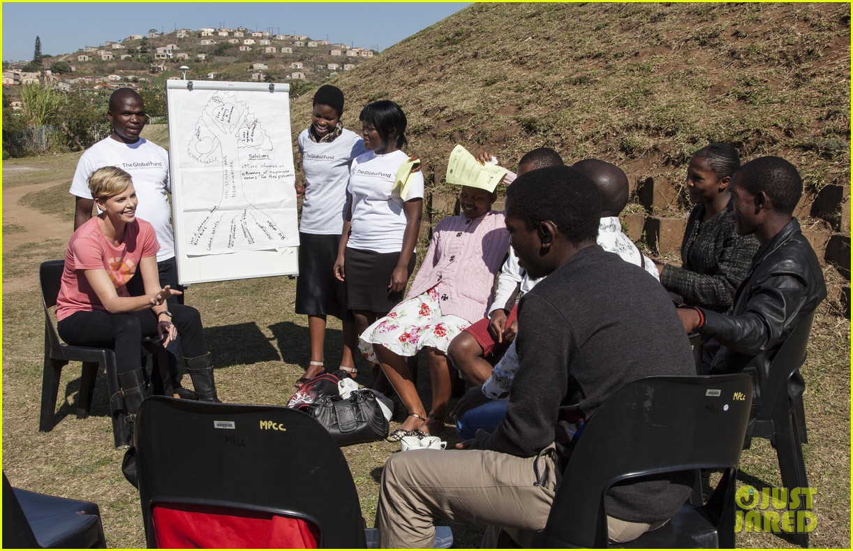 charlize theron visits youth ambassador project in south africa 082922290