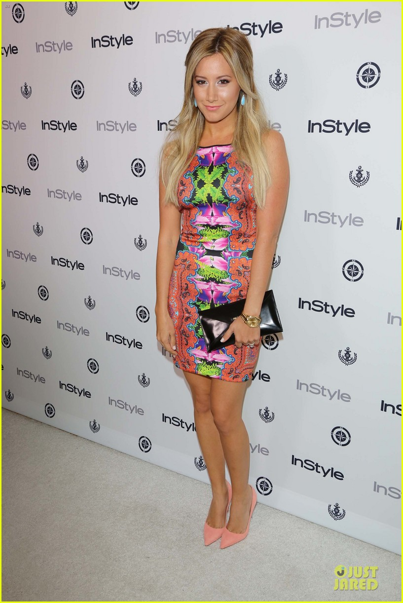 ashley tisdale christopher french engaged couple at instyle soiree 012930507