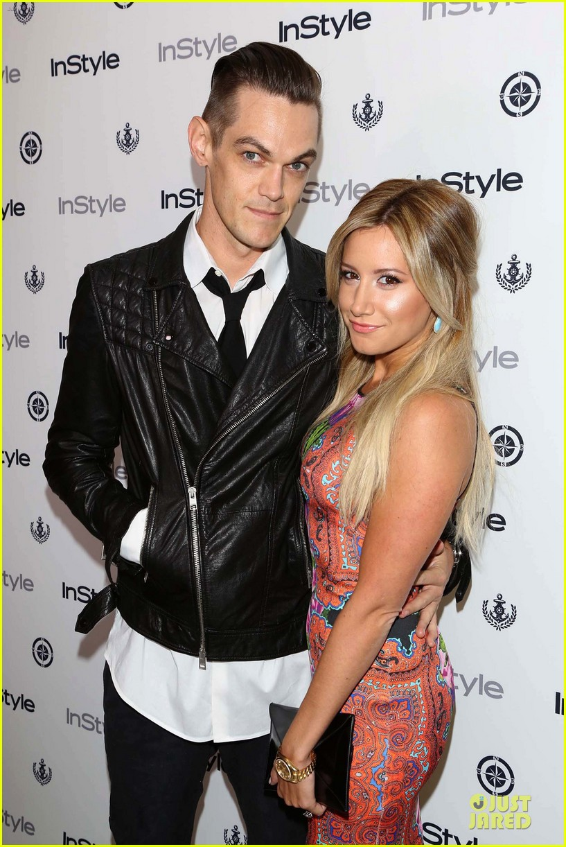 ashley tisdale christopher french engaged couple at instyle soiree 02