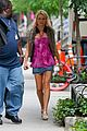 naomi watts matches her pink hair to her top on movie set 05