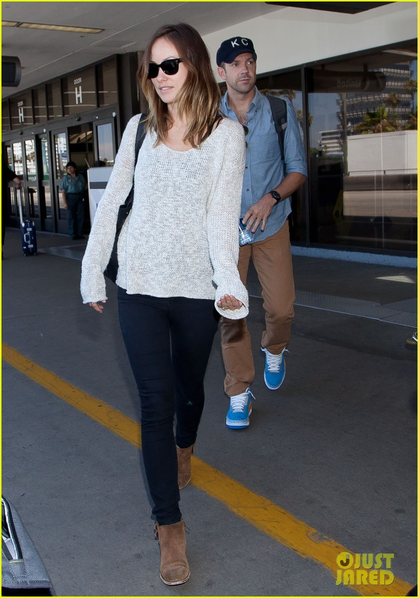 olivia wilde jason sudeikis from nyc to lax duo 092924720