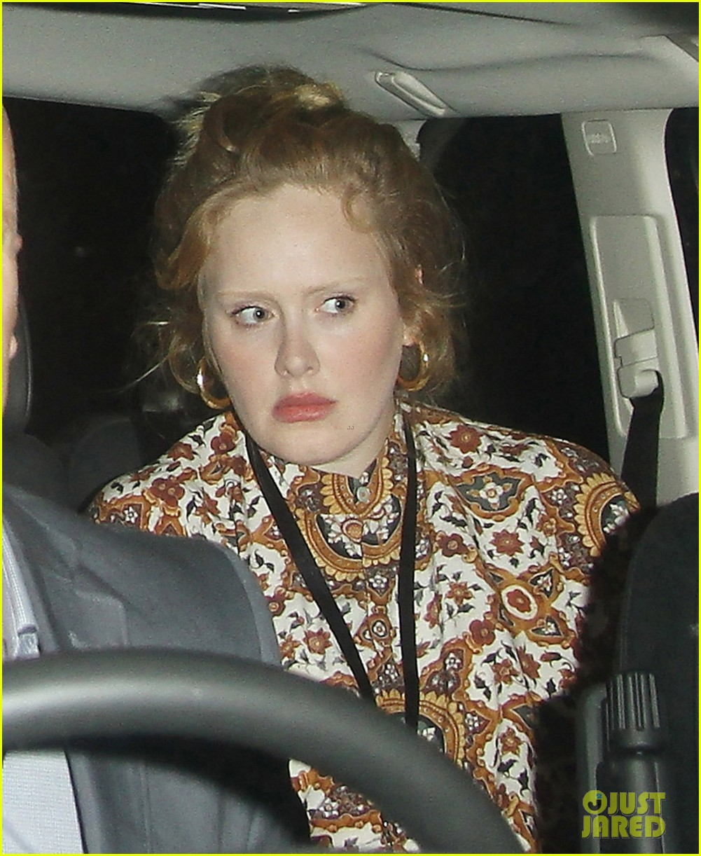 adele exits itunes festival venue after lady gaga show 022942680