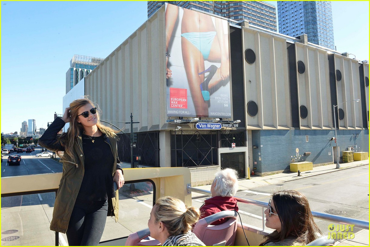 nina agdal european wax center bum bus tour 142958851
