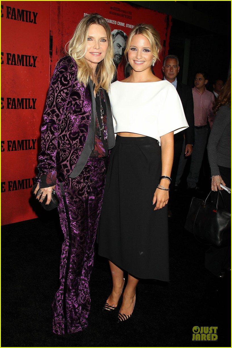 dianna agron michelle pfeiffer the family nyc premiere 032949696