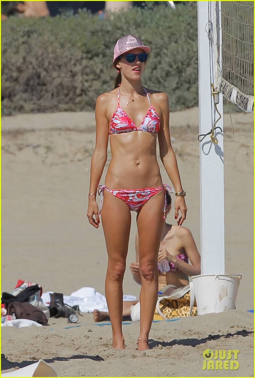 alessandra ambrosio bikini babe with shirtless jamie mazur 022942705