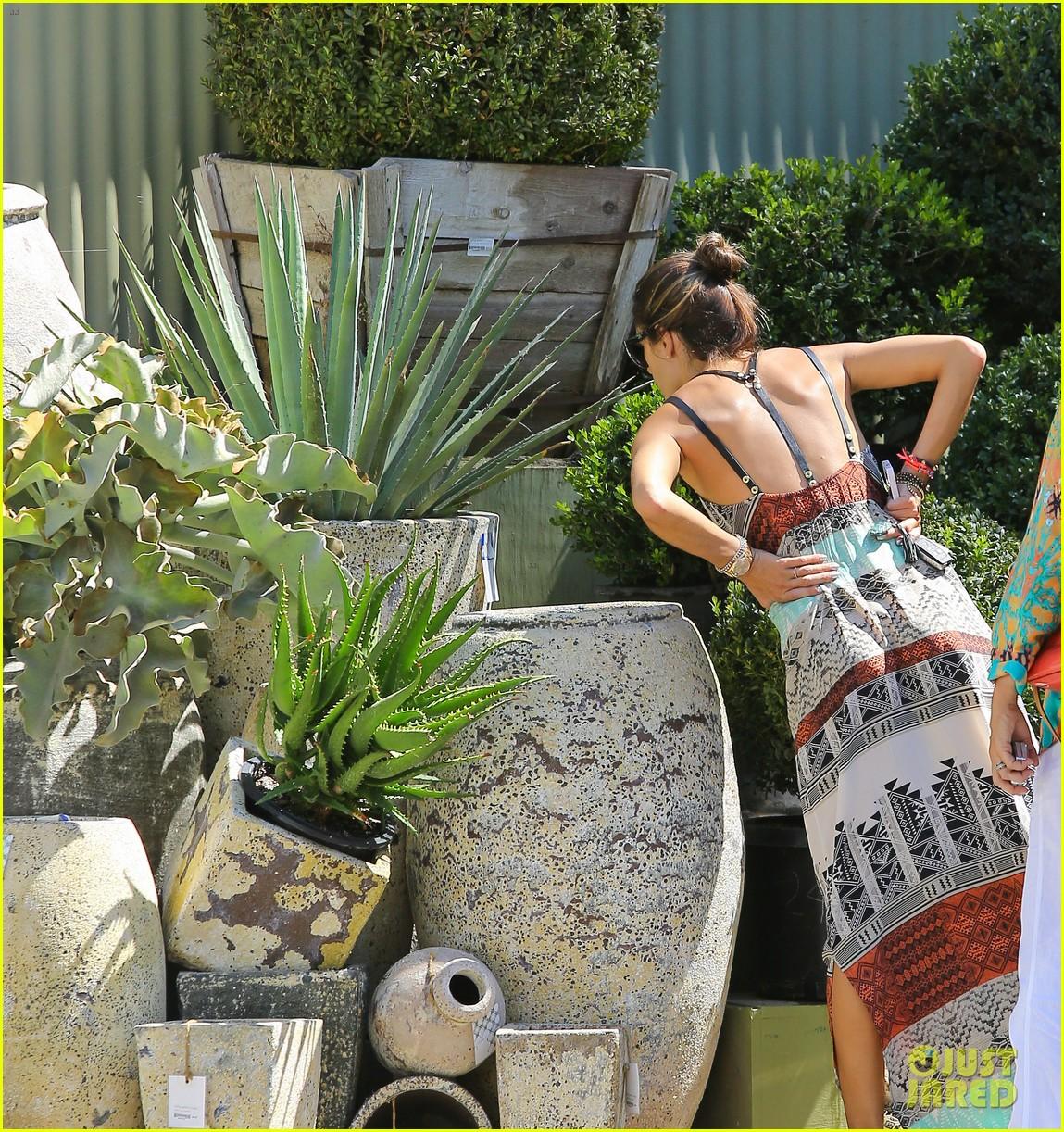 alessandra ambrosio bikini babe with shirtless jamie mazur 182942721