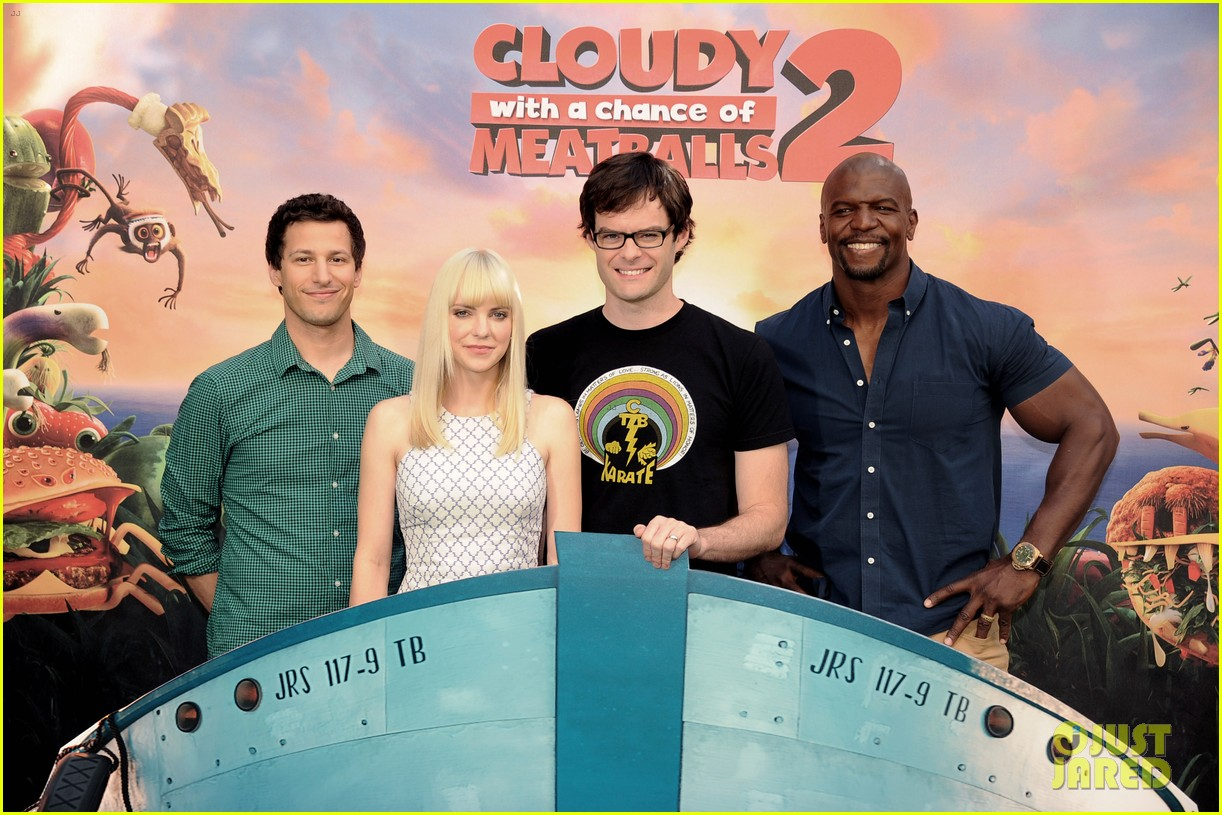 anna faris andy sandberg cloudy 2 photo call 062952917