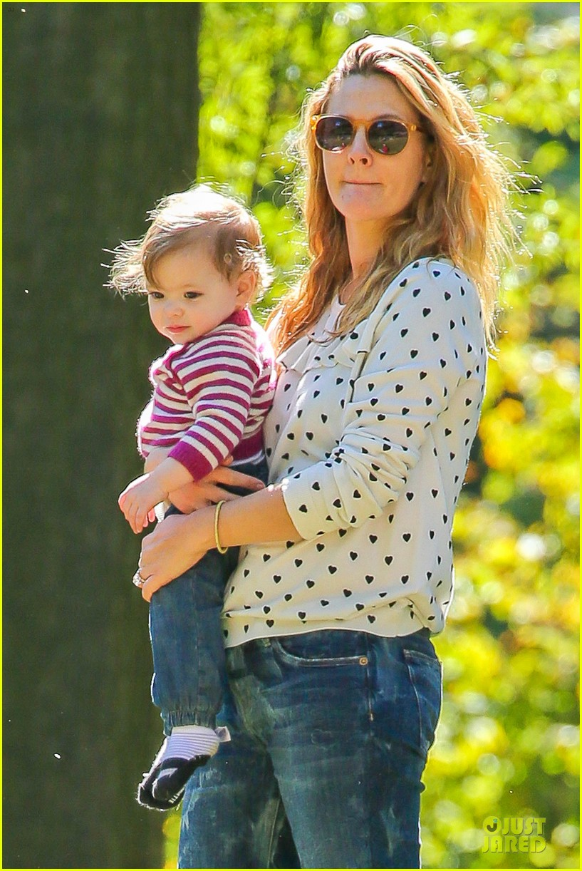 drew barrymore will kopelman central park fun with olive 222962234