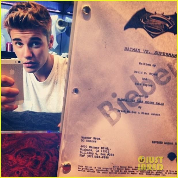 justin bieber robin in superman vs batman 01