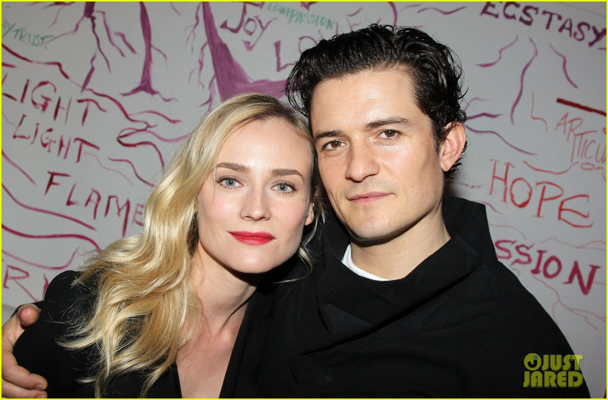 orlando bloom diane kruger troy reunion on broadway 02