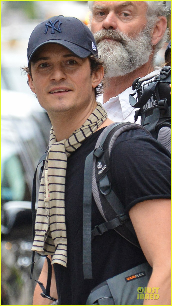 orlando bloom flynn matching new york yankees duo 022953711
