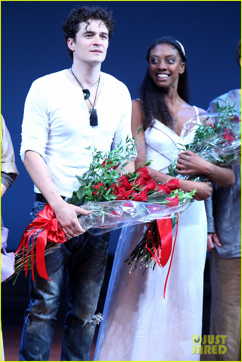 orlando bloom romeo juliet opening with condola rashad 182955806