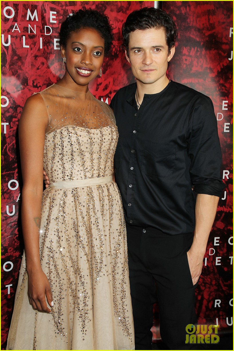 orlando bloom romeo juliet opening with condola rashad 302955818