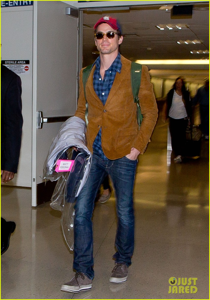 matt bomer emilia clarke land in los angeles for emmys 012957272