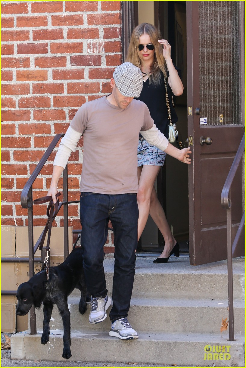kate bosworth michael polish newlyweds visit studio 052943209
