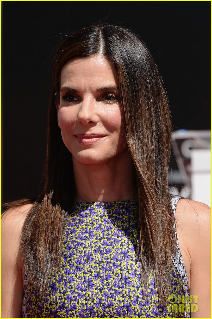 sandra bullock receives handprint at tci chinese theater 122959882