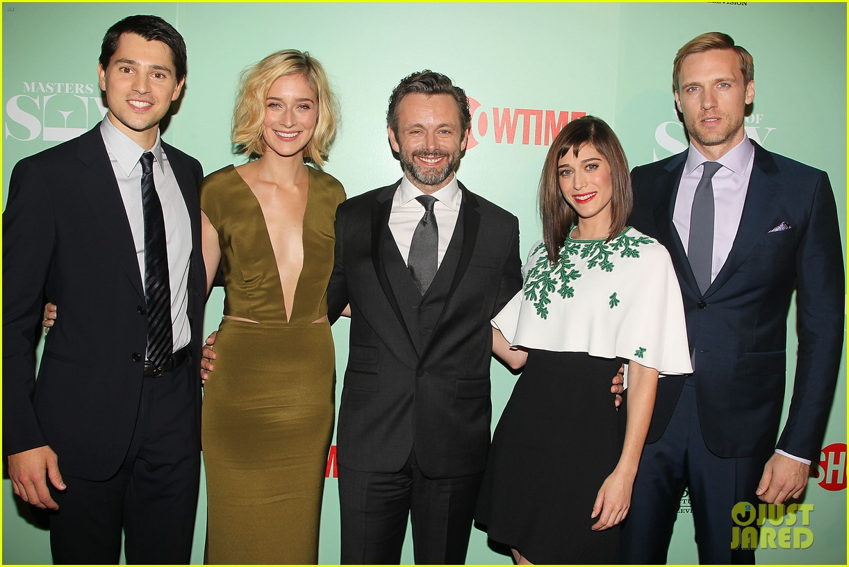 lizzy caplan michael sheen masters of sex nyc premiere 022960795