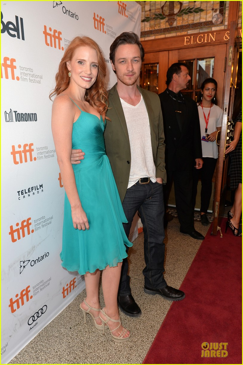 jessica chastain james mcavoy disappearance of eleanor rigby tiff premiere 142948487