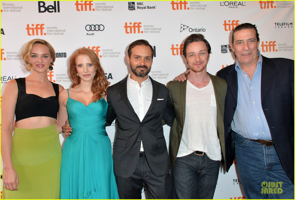 jessica chastain james mcavoy disappearance of eleanor rigby tiff premiere 272948500