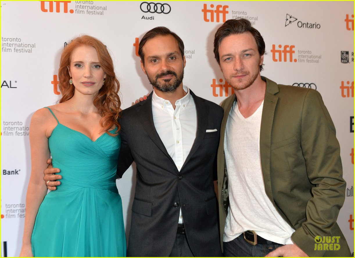 jessica chastain james mcavoy disappearance of eleanor rigby tiff premiere 312948504