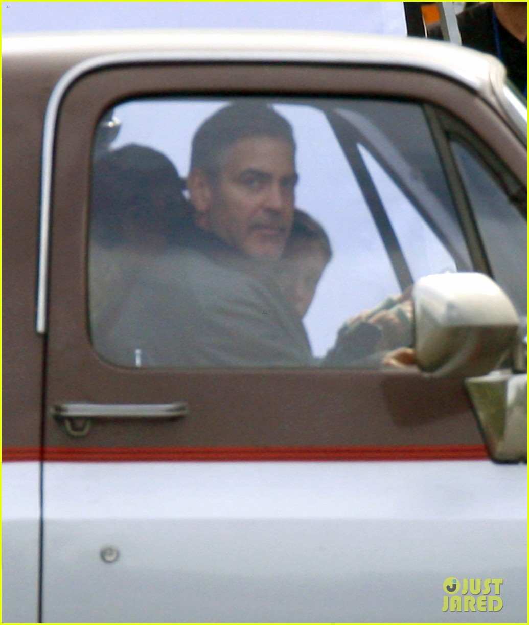 george clooney meets dylan obrien on tomorrowland set 202955035